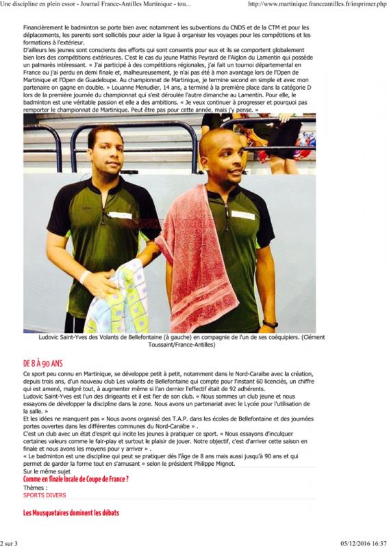 Article france antilles badminton une discipline en plein essor 2