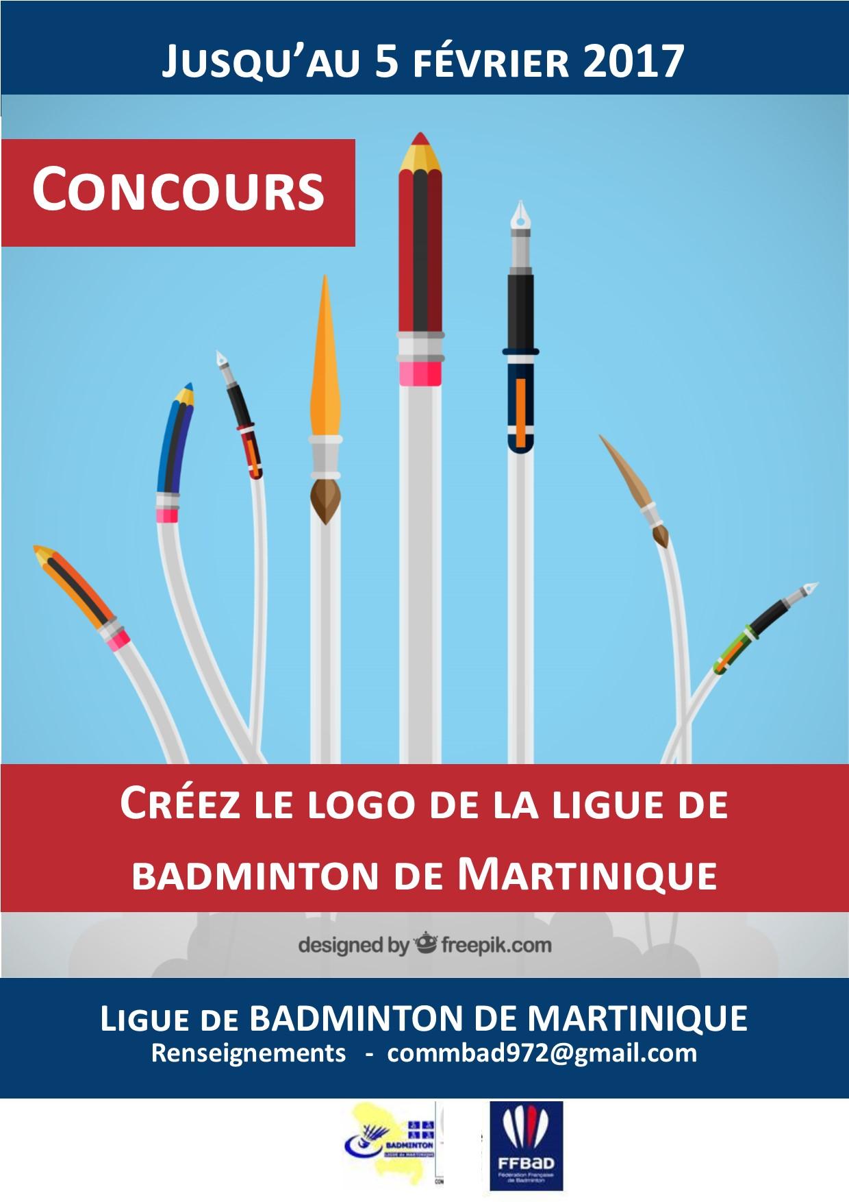 Concours logo badminton martinique