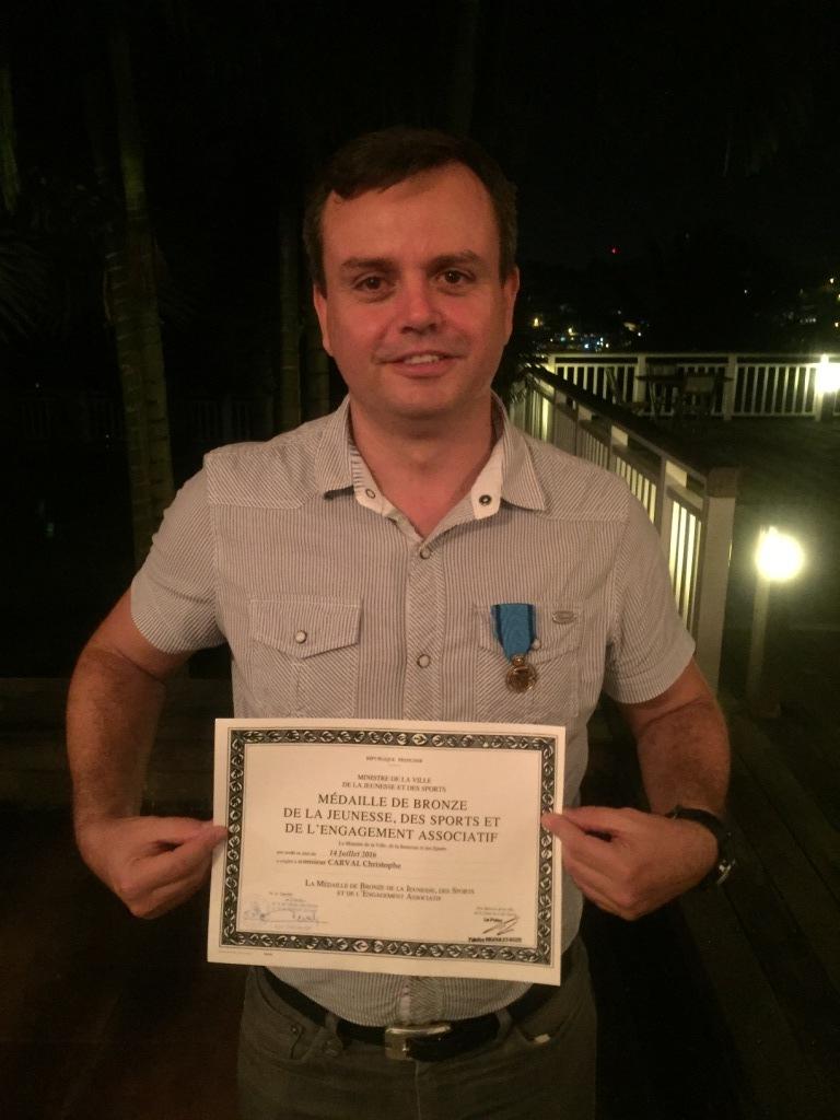 Christophe CARVAL, Médaille de la Jeunesse, des Sports et de l'Engagement Associatif