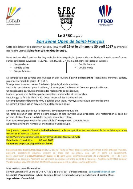 Invitation open sfbc 2